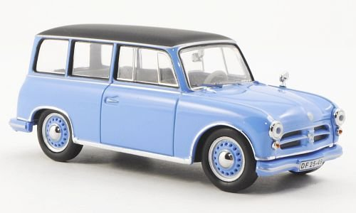 AWZ P70, blau/schwarz , 1957, Modellauto, Fertigmodell, IST Models 1:43