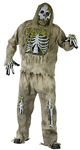 Funworld Mens Scary Skeleton Zombie Theme Party Fancy Halloween Costume