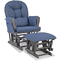 Storkcraft Hoop Gray Frame Glider and Ottoman + $50 Gift Card