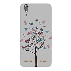 Back cover for Lenovo A6000 Butterfly Tree