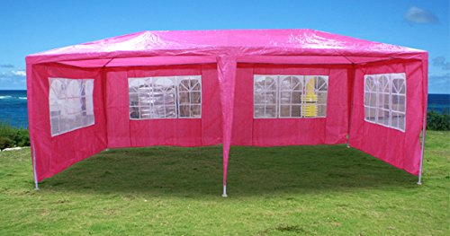 New 20'X10' Outdoor Party Wedding Tent Gazebo Events Pavilion - Pink front-1003293