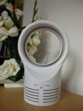 NEW MODEL, 6 Inch BLADELESS FAN, White Color, With UK PLUG, BEST FOR OFFICE & HOME