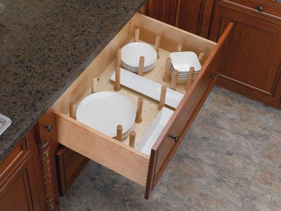 "One Piece (4Dps-3921) Drawer Insert. Rev-A-Shelf Wood Peg System Large Drawer - 39-1/4"" Wide"