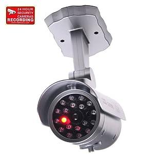 VideoSecu Fake Security Camera CCTV Home Surveillance Dummy IR Infrared Bullet Camera with Flashing Light 1RE