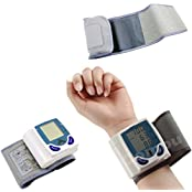 Bestcompu Digital LCD Wrist Blood Pressure Monitor Heart Beat Rate Pulse Meter Measure 60 Memory Storage