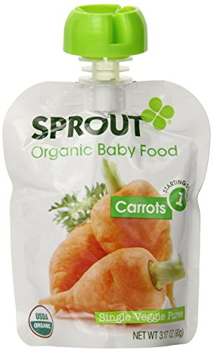 Sprout Organic Foods, Stage 1 Pouch, Carrots, 3.17 Ounce (Pack of 5)