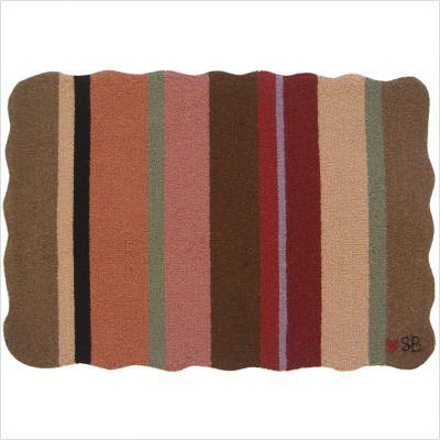 Yipes Stripes Brown Rug and Accessories Size: Square Pillow 18