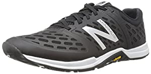 New Balance Men's MX20BG4  Minimus Training Shoe, Black/Silver, 10.5 D US