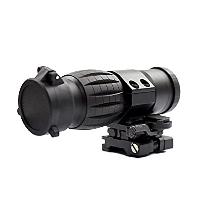 Twod 3X Magnifier Scope with Tactical Flip-to-side QD 20mm Picatinny Mount from Twod