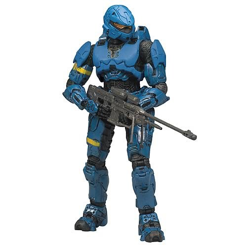 Halo Series 7 Action Figurines - Spartan Soldier Rogue (Blue)