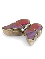 M&S Collection Enamel Butterfly Trinket Box