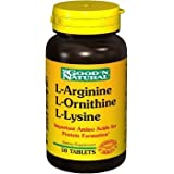 Good 'N Natural L-arginine, L-ornithine, L-lysine