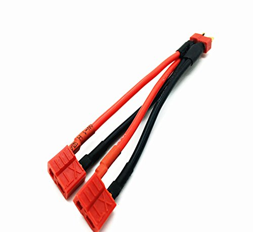 Onkuey T Plug Male to 2 T Plug Female Parallel Battery Connector Cable for RC Multicopter Quadcopter (120mm) (Deans Battery Harness compare prices)