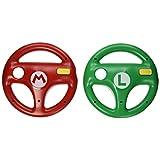 HORI Mario Kart 8 Racing Wheel Set (Mario & Luigi) - Nintendo Wii U