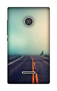 The Racoon Lean have faith in destiny hard plastic printed back case / cover for Microsoft Lumia 435