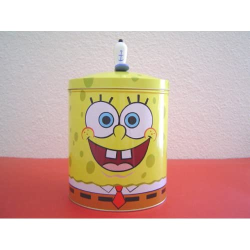 Amazon.com: Spongebob Squarepants Tin Cookie Jar Storage