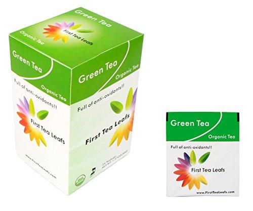 First Tea Leafs: Green Tea, Organic & Kosher Tea (24 Tea Bags Per Box)