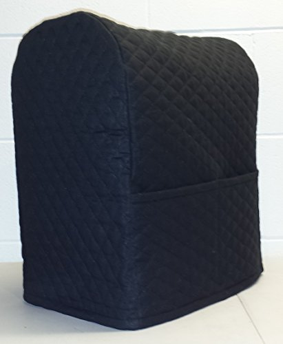 Quilted Kitchenaid Lift Bowl Stand Mixer Cover (Black) (Kitchen Aid Mixer Bowl Cover compare prices)