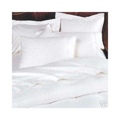 Stripes White 600 thread count King Size 8 pieces