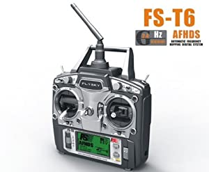 US Ship Flysky FS Newest Model FS-T6 2.4G AFHDS 2.4G 6 Channel Radio System