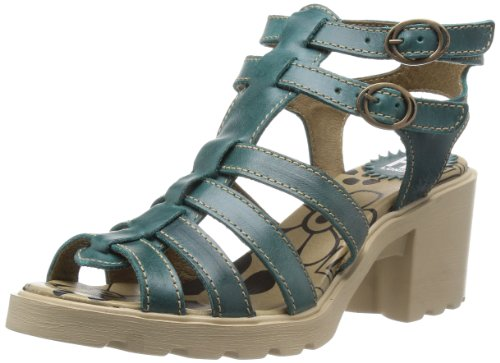 Fly London Ceer, Damen Fashion Sandalen , Blau Petrol