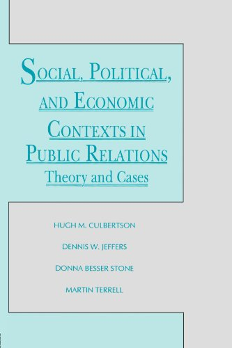 Social, Political, And Economic Contexts In Public Relations: Theory And Cases (Routledge Communication Series) front-976340