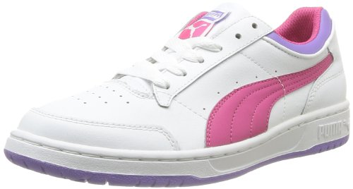 Puma Boys' Full Court Lo Jr Trainers White Blanc (White/Purple/Dahlia Purple) 38