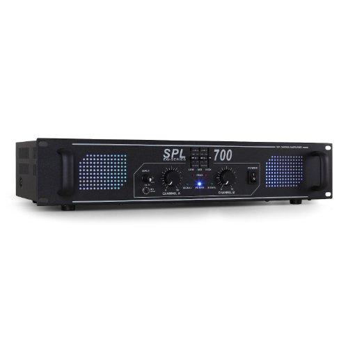 Skytec-SPL700-Hifi-DJ-PA-Verstrker-2000-Watt-Endstufe-Equalizer-mit-blauen-LED-Lichteffekt-3-Band-EQ-3x-Cinch-35mm-Klinke-schwarz