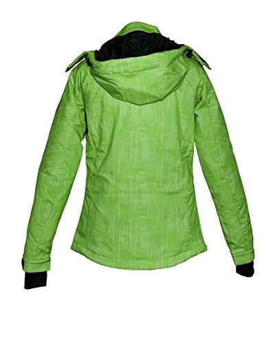 Deproc Active Damen Softshell-Skijacke und Winterjacke für CHICOPEE, jasmine green print, 44, 54021-521 -