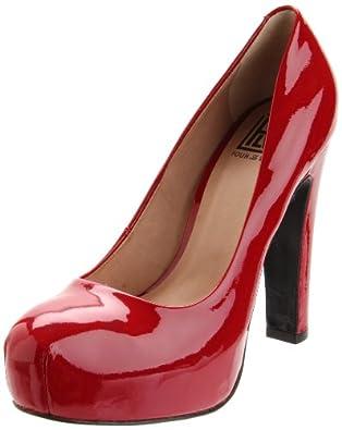 Pour La Victoire Women's Irina II Platform Pump,Deep Red Patent,5.5 M US