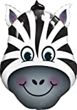 Zany Zebra Shaped Jumbo Foil Balloon (Black & White) Party Accessory by Mayflower Distributing TOY