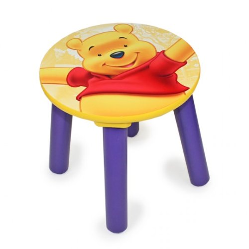 DISNEY WINNIE POOH Kinderstuhl Kinderhocker Hocker Kindermöbel Holz Kinderzimmer