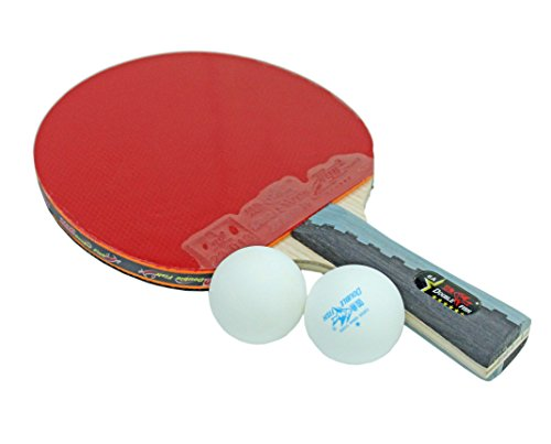 Double Fish Table Tennis Racket 1 PCS with 2 Ball Set 6A-C