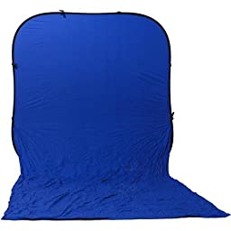 Impact Super Collapsible Background - 8 x 16\' (Chroma Blue)