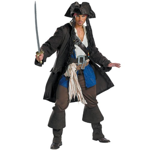 Lets Party Captain Jack Sparrow Prestige Teen Costume - Size Teen (38-40)