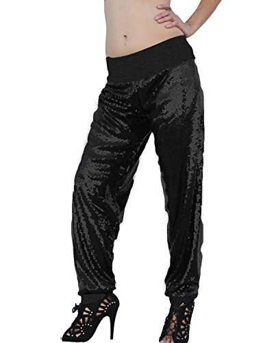 Ooh La La Fully Lined Sequin Pants with Cuffs 201720M cuffs (Sequin Harem Pants compare prices)