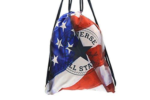 Converse accessori Sacca zaino shoebag bandiera americana borsa 6FA012J COME DA FOTO