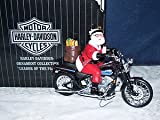 Harley-davidson Ornament Collection Leader of the Pack Santa Riding Motorcycle Hanging Ornament or Stand on a Chrome Ornament Stand Sold Seperately