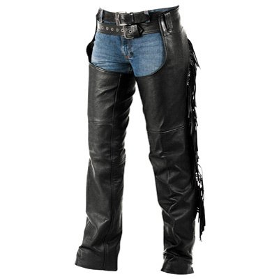 Interstate Leather Ladies Fringe Motorcycle Chaps