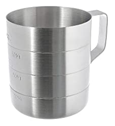 Update International ADME-10 Aluminum Dry Measure 1-Quart