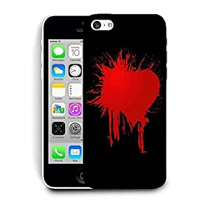 Snoogg Bloody Heart Printed Protective Phone Back Case Cover For Apple Iphone 6+ / 6 Plus