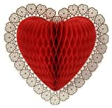 Tissue Heart 12-Inch Decoration