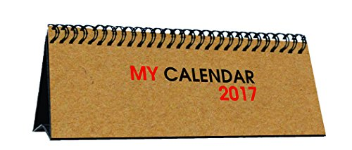 Brown Craft Calendar 2017 | 2017 calendar | Table calendar 2017 | Desk calendar 2017 | Printelligent Desk Calendar 2017 (Size 3 in x 6 in)  available at amazon for Rs.199