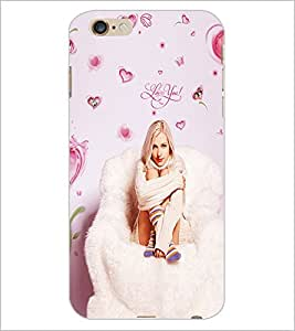 PrintDhaba Love you Girl D-1089 Back Case Cover for APPLE IPHONE 6 (Multi-Coloured)