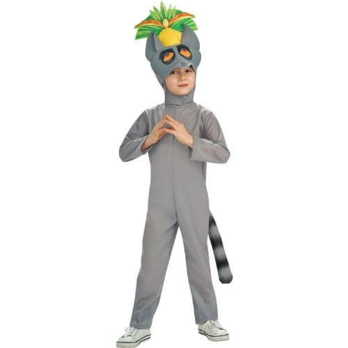Nickelodeon The Penguins Of Madagascar Costume, King Julien Costume