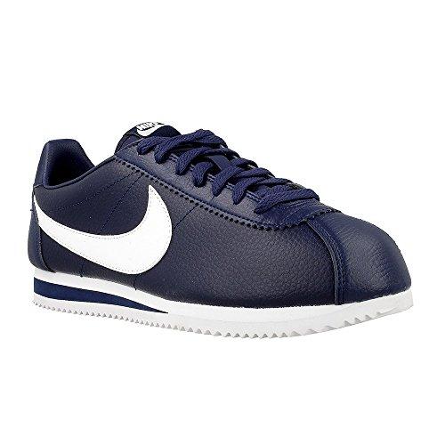 Nike Classic Cortez Leather - Scarpe da corsa, colore Blu (midnight navy / white), taglia 42 1/2
