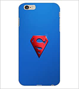 PrintDhaba Superman Logo D-2447 Back Case Cover for APPLE IPHONE 6 PLUS (Multi-Coloured)