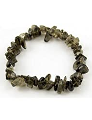 Bracelet Chip Smoky Quartz Elasticated 7 Inch