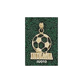 Indiana Hoosiers Indiana Soccer Ball Pendant - 14KT Gold Jewelry by Logo Art