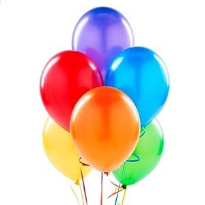 Metallic Rainbow Latex Balloons (6) by Birthday Express